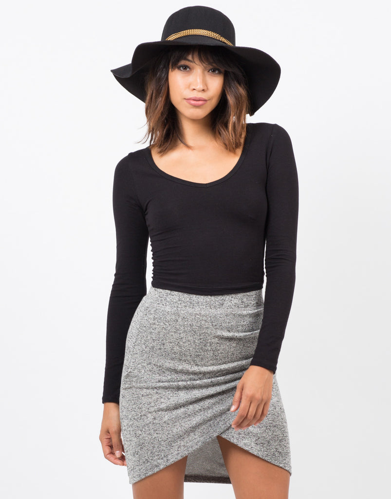 Long Sleeve Crop Top - 2020AVE