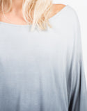Detail of Long Sleeve Draped Back Ombre Tunic