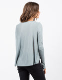 Back View of Long Sleeve Flowy Tee