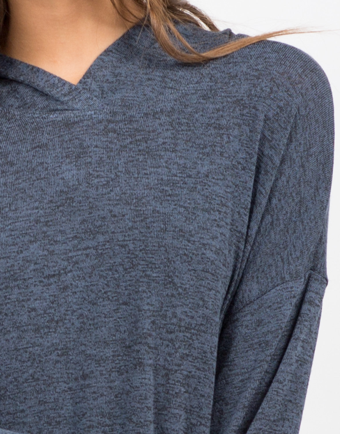 Detail of Long Sleeve Hooded Top