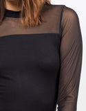 Detail of Long Sleeve Mesh Top