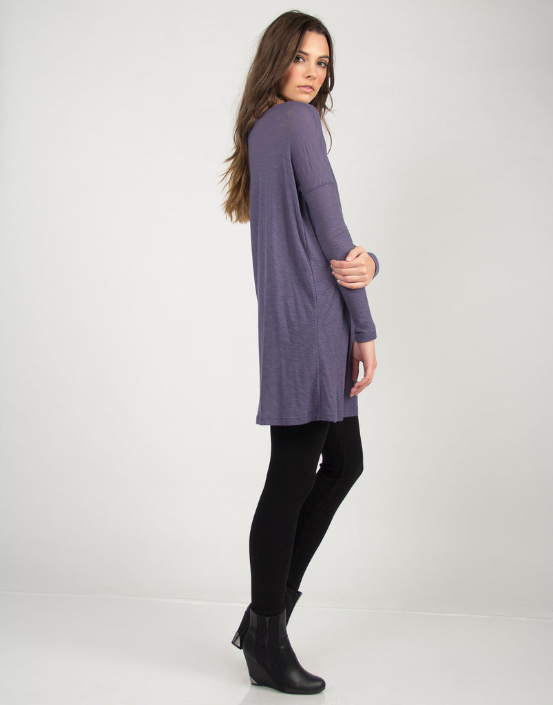 Long Sleeve Tunic Dress - Blue - Large - 2020AVE
