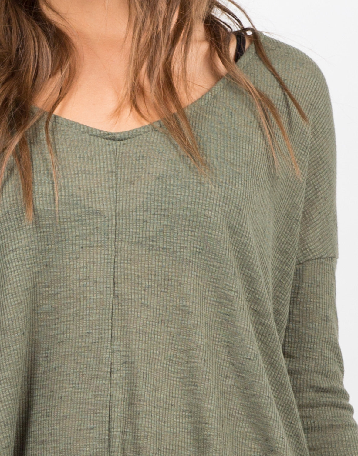 Detail of Long Sleeve V-Neck Top