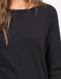 Detail of Long Slit Sweater Top
