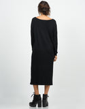 Side View of Long Sweater Dress