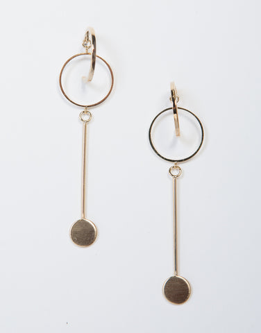 Loopy Hoop Drop Earrings