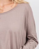 Detail of Loose Long Sleeve Basic Tee