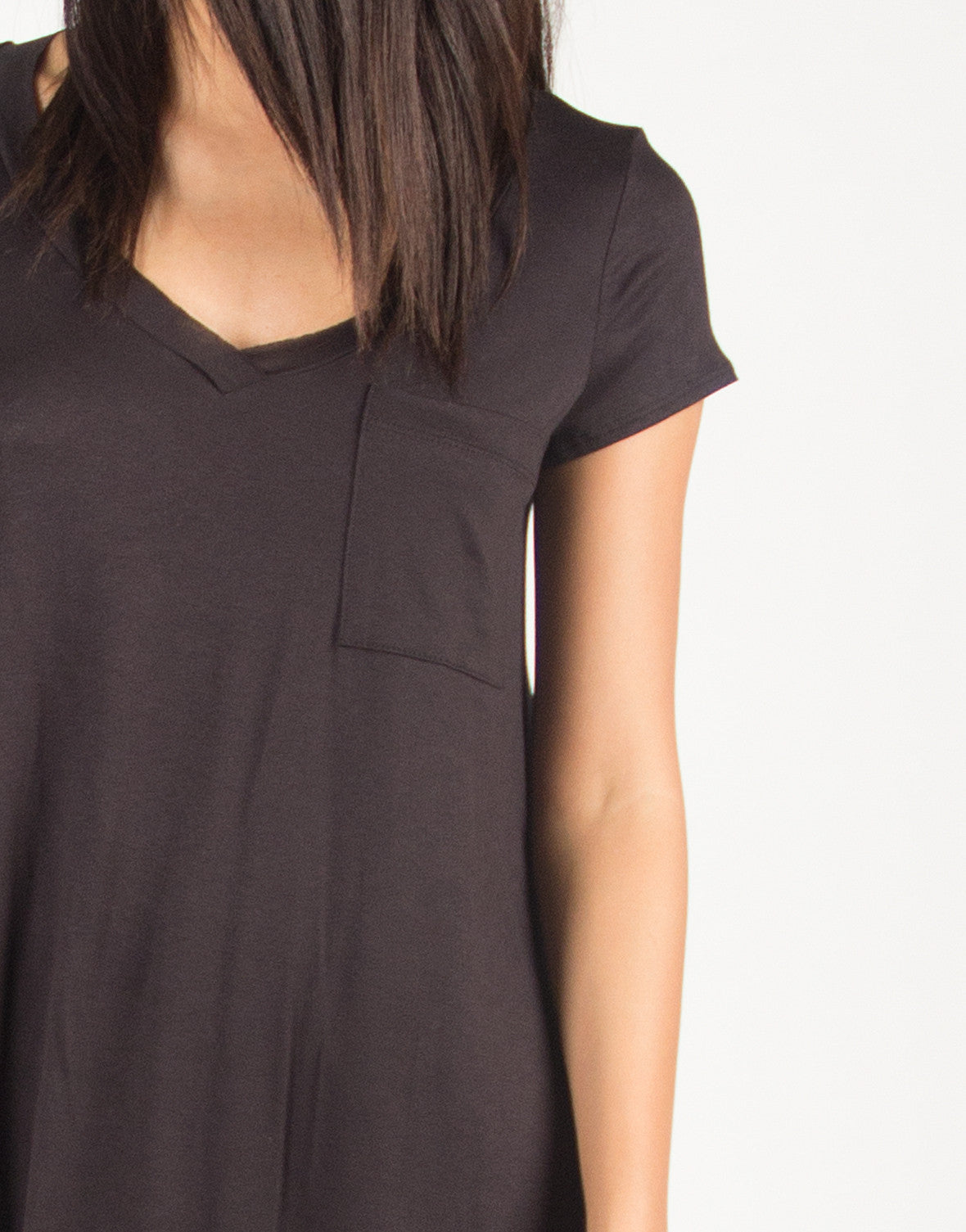 Loose Plain Pocket Tee