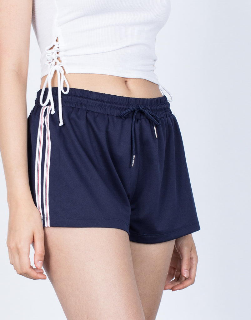 Detail of Lounge in Striped Shorts