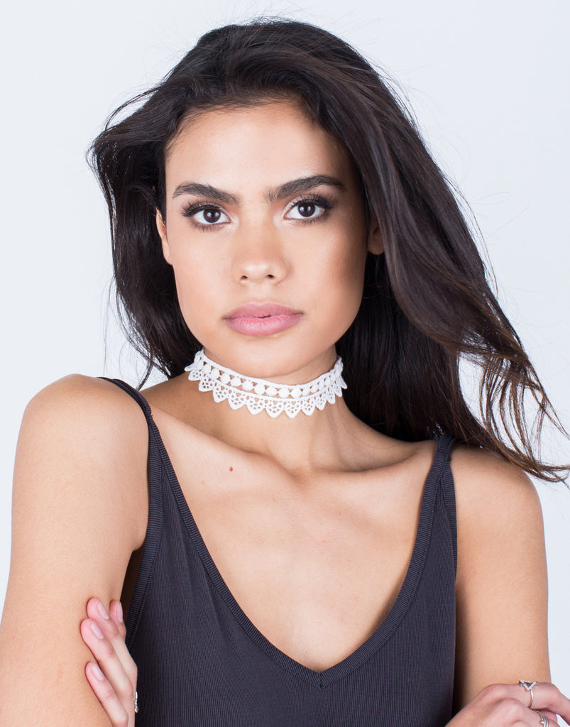Lovely Crochet Choker Set
