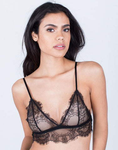 Lovely Floral Lace Bralette - 2020AVE