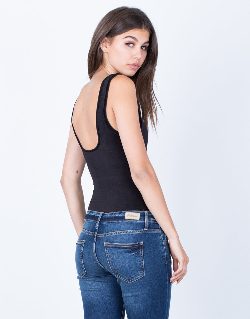Back View of Lovin' Corduroy Bodysuit