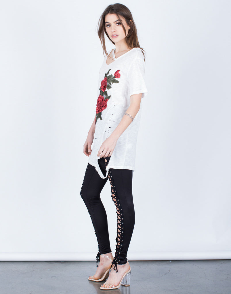 Lovely Rose Embroidered Tunic - 2020AVE