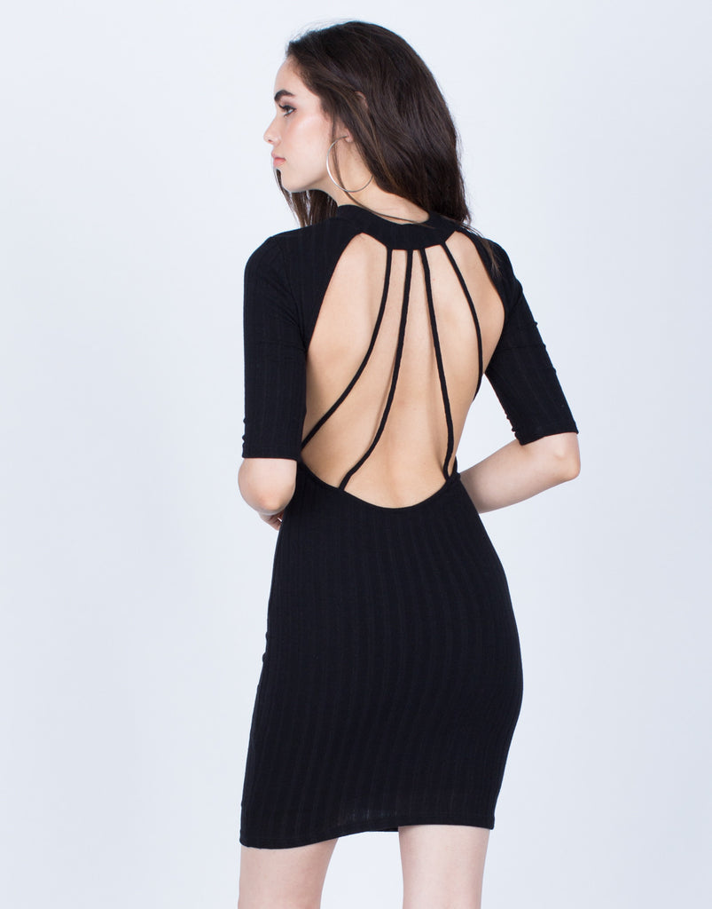 Low Back Bodycon Dress - 2020AVE