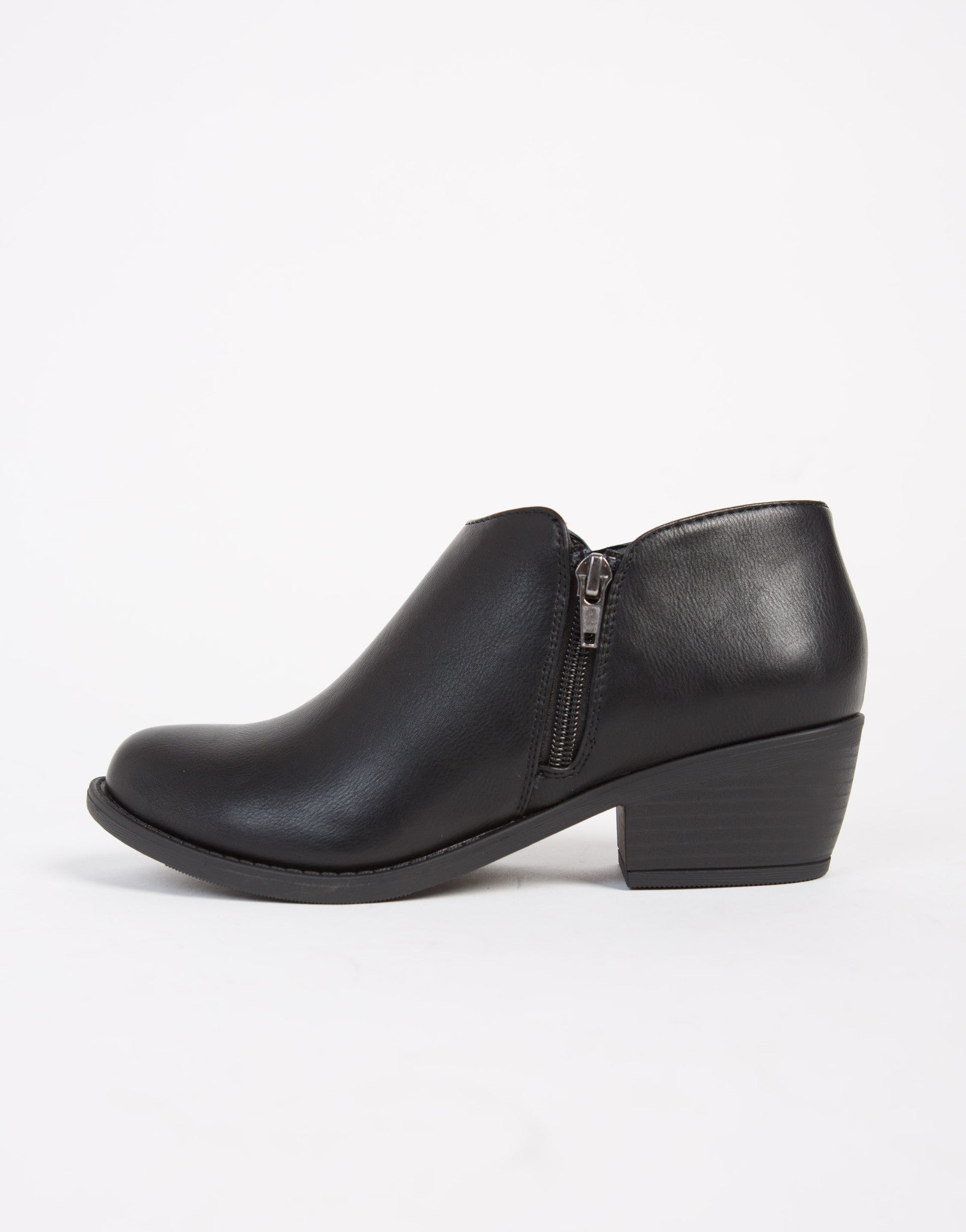 Low Cut Ankle Booties - Black Ankle