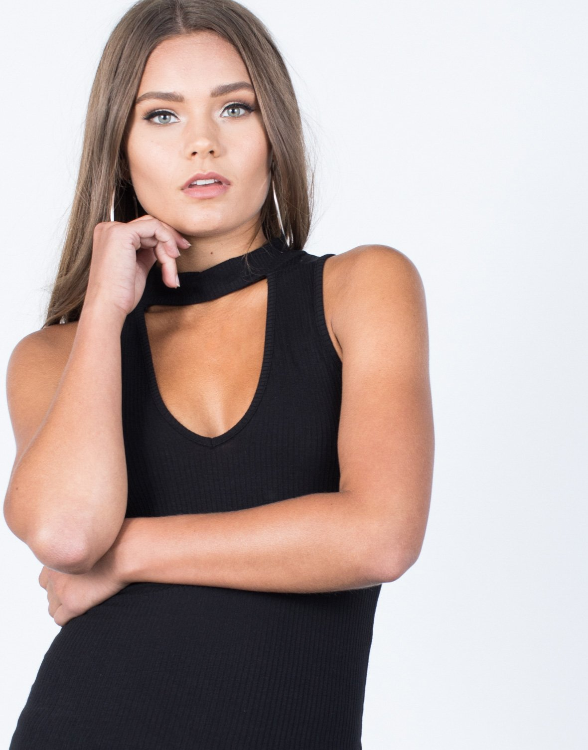Low Cut Choker Tank - 2020AVE