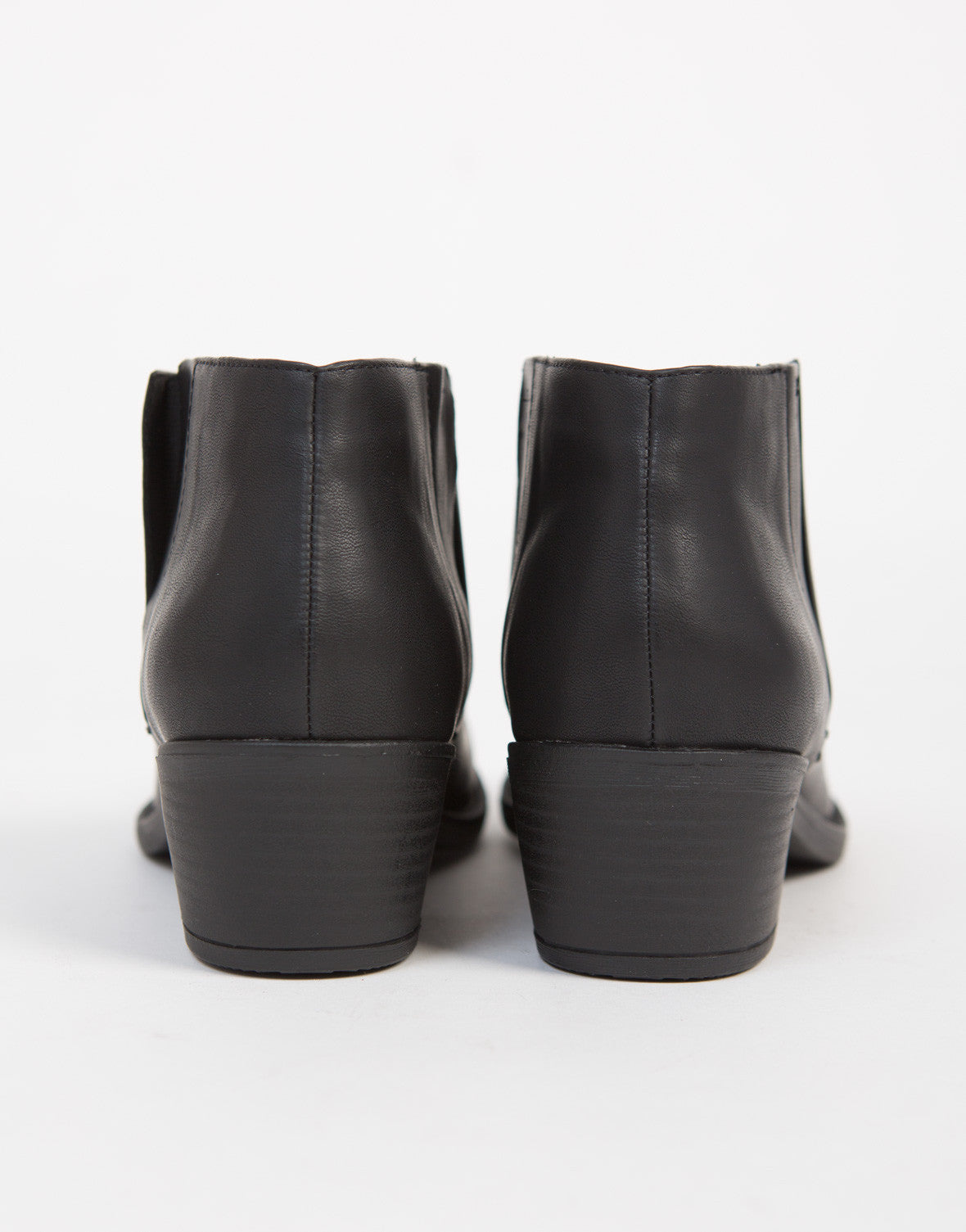 Low Cut Leather Booties