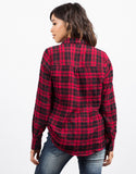 Back View of Lumberjack Plaid Shirt