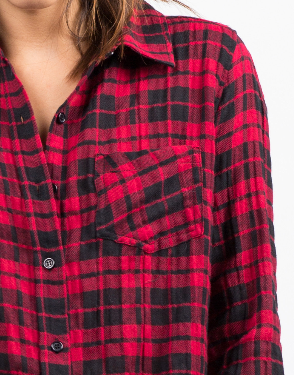 Detail of Lumberjack Plaid Shirt