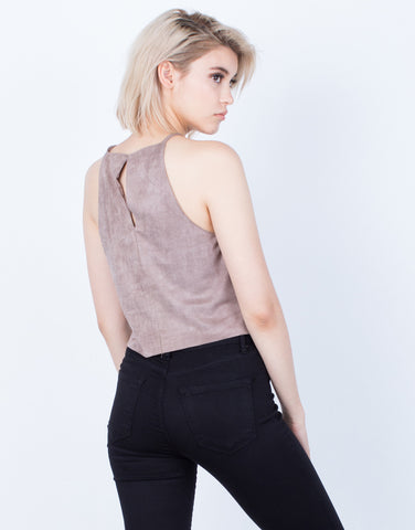Back View of Luscious Suede Cami Top