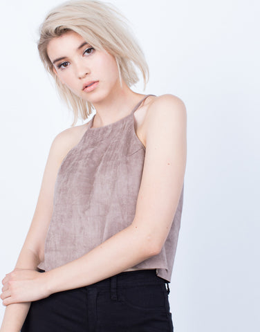 Detail of Luscious Suede Cami Top