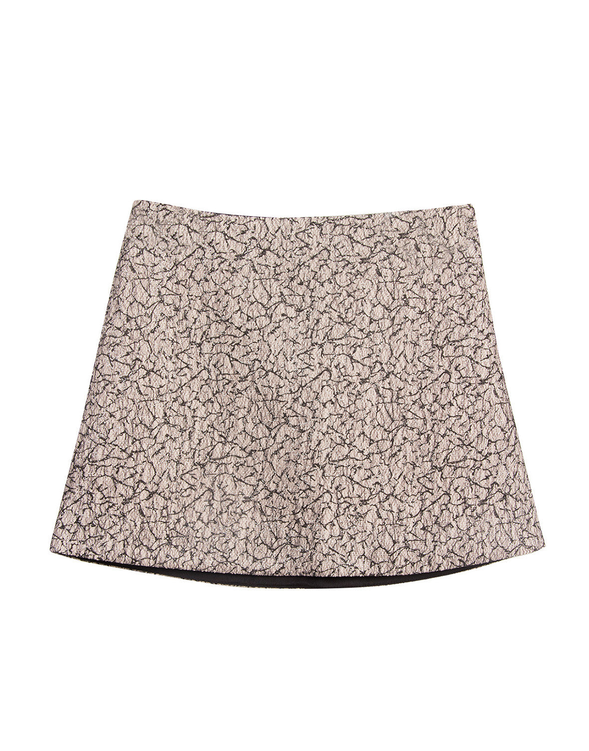 Metallic Woven Jacquard Mini Skirt