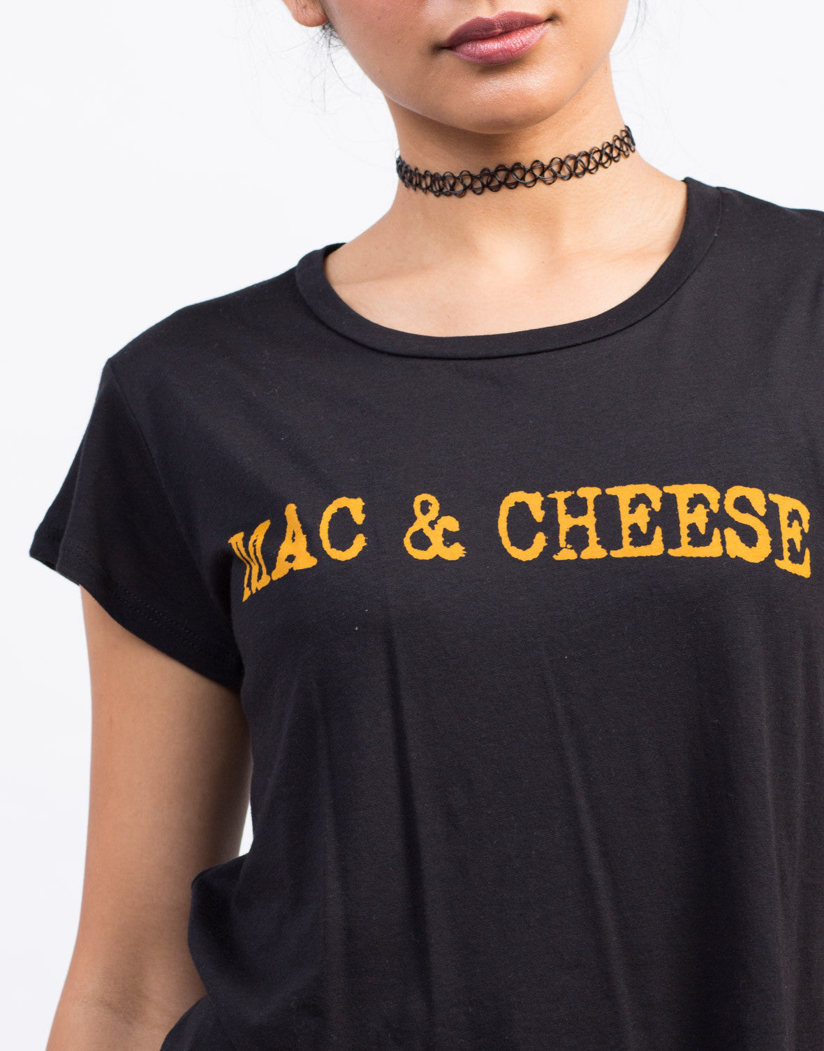 Detail of Mac & Cheese Graphic Tee