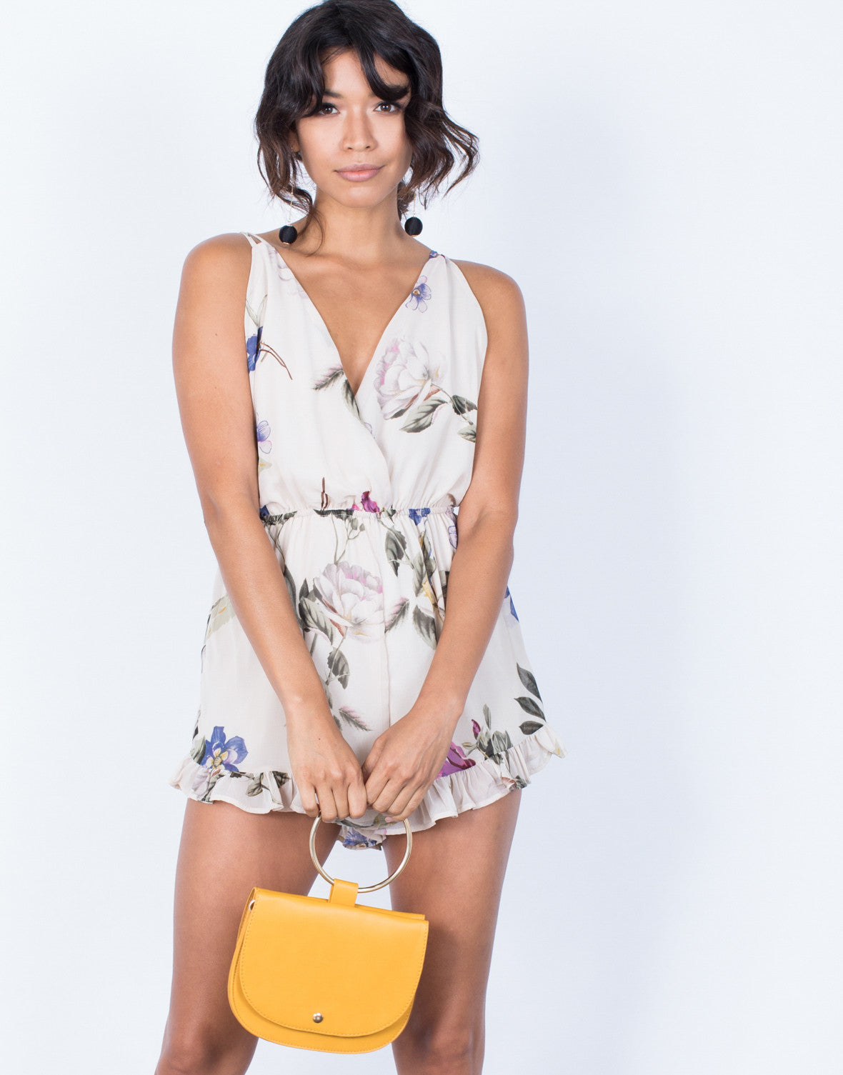 Front View of Madeline Floral Romper