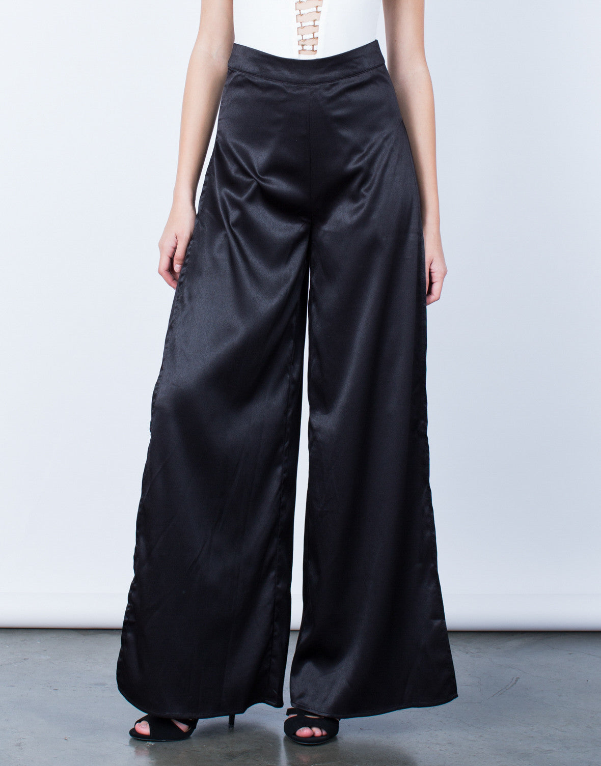 Make a Statement Satin Pants