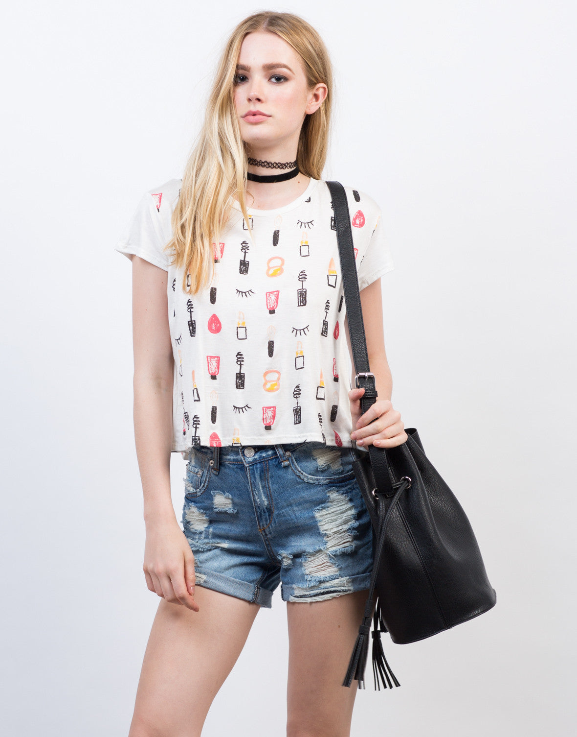 Front View of Make-Up Graphic Tee