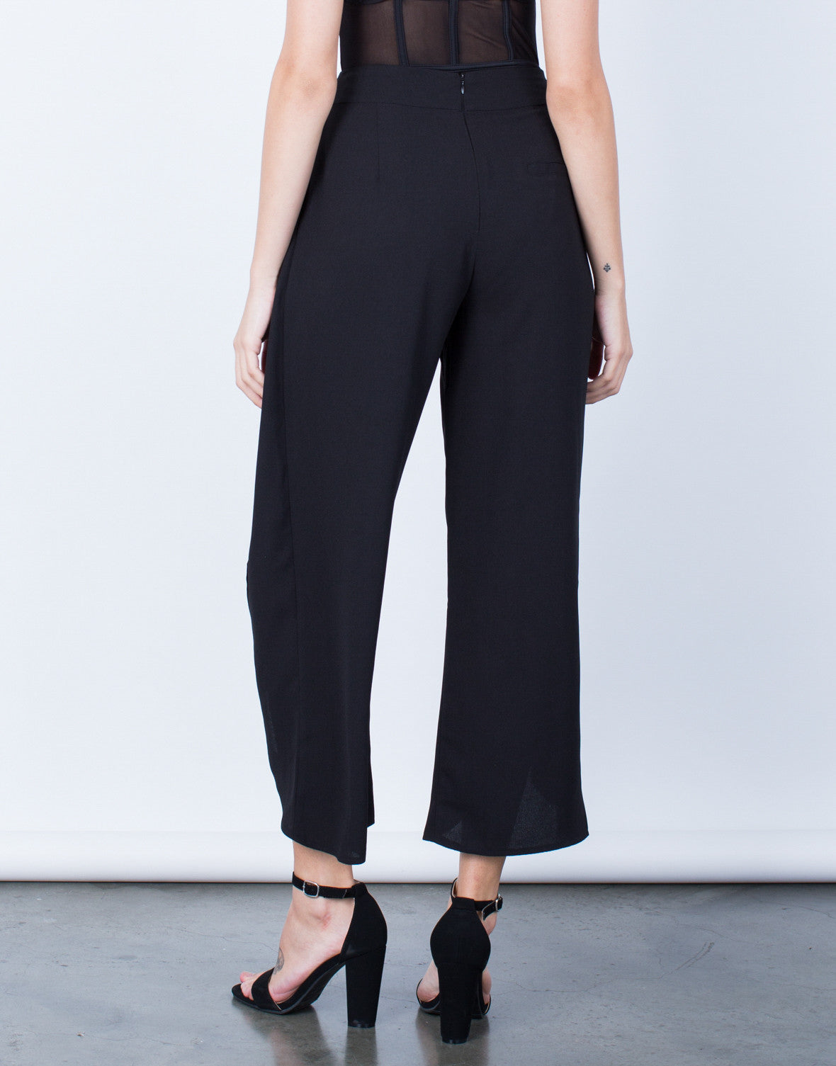 Back View of Make Your Move Wide Leg Pants