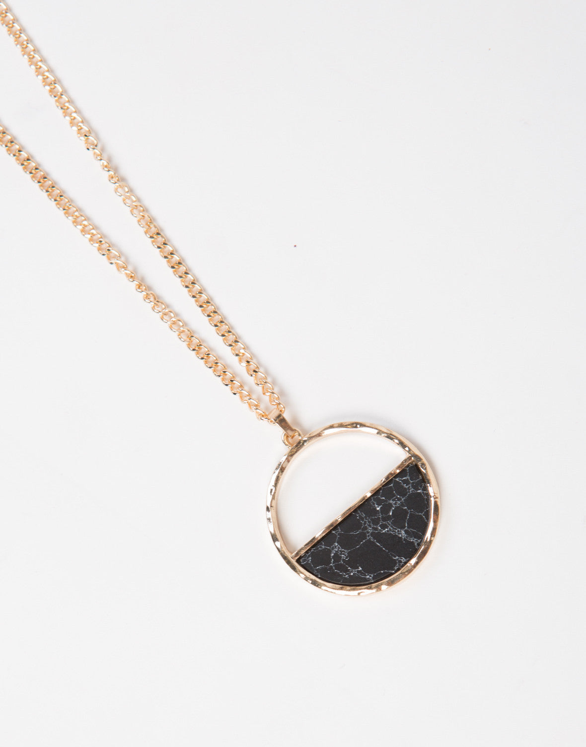 Marbled Half Moon Necklace - 2020AVE