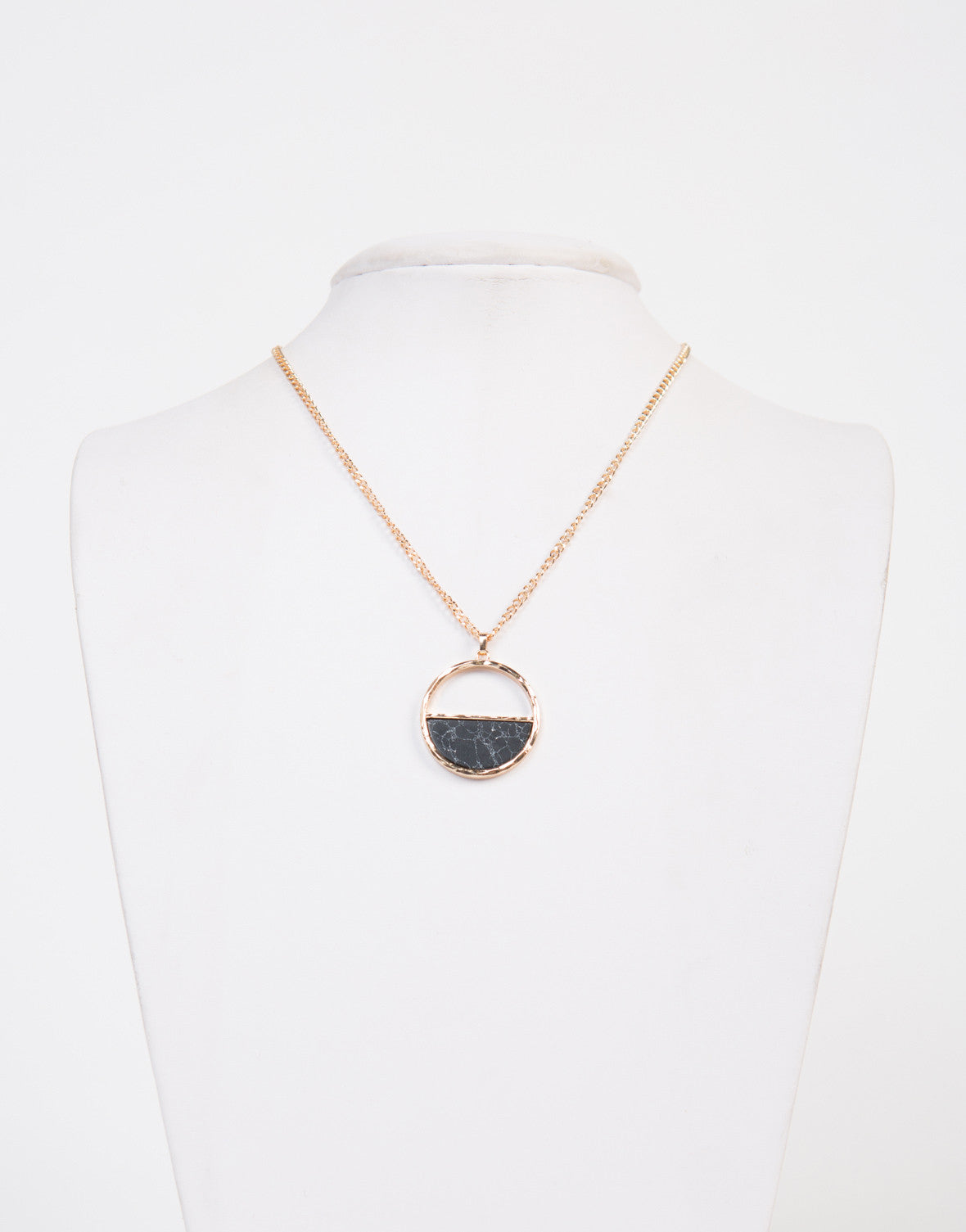 Marbled Half Moon Necklace