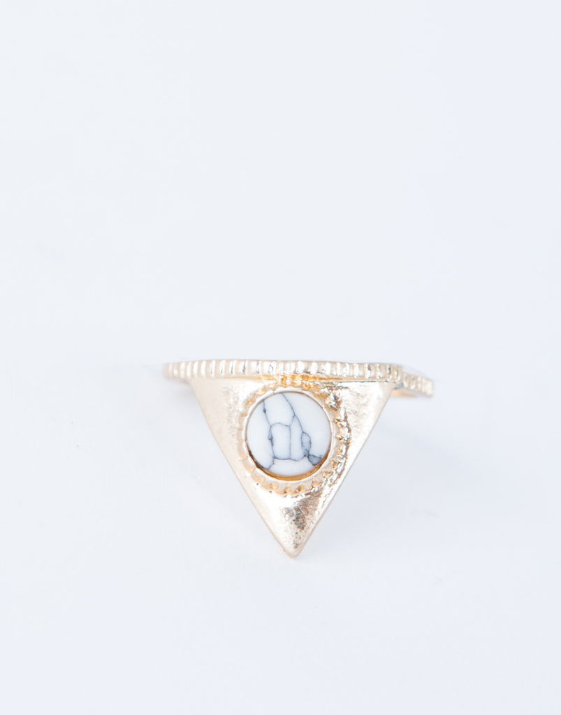 Marbled Triangle Ring