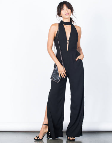 Marissa High Slit Jumpsuit - 2020AVE