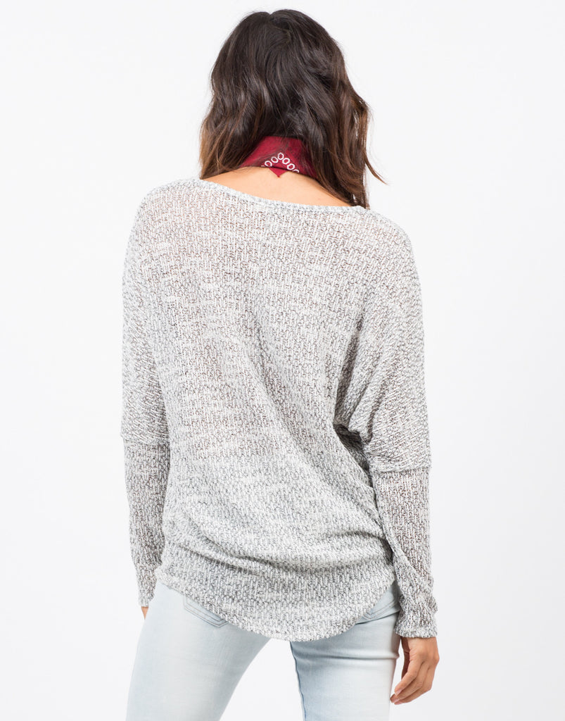Marled Dolman Sweater Top - 2020AVE