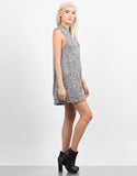 Side View of Marled Flare Dress