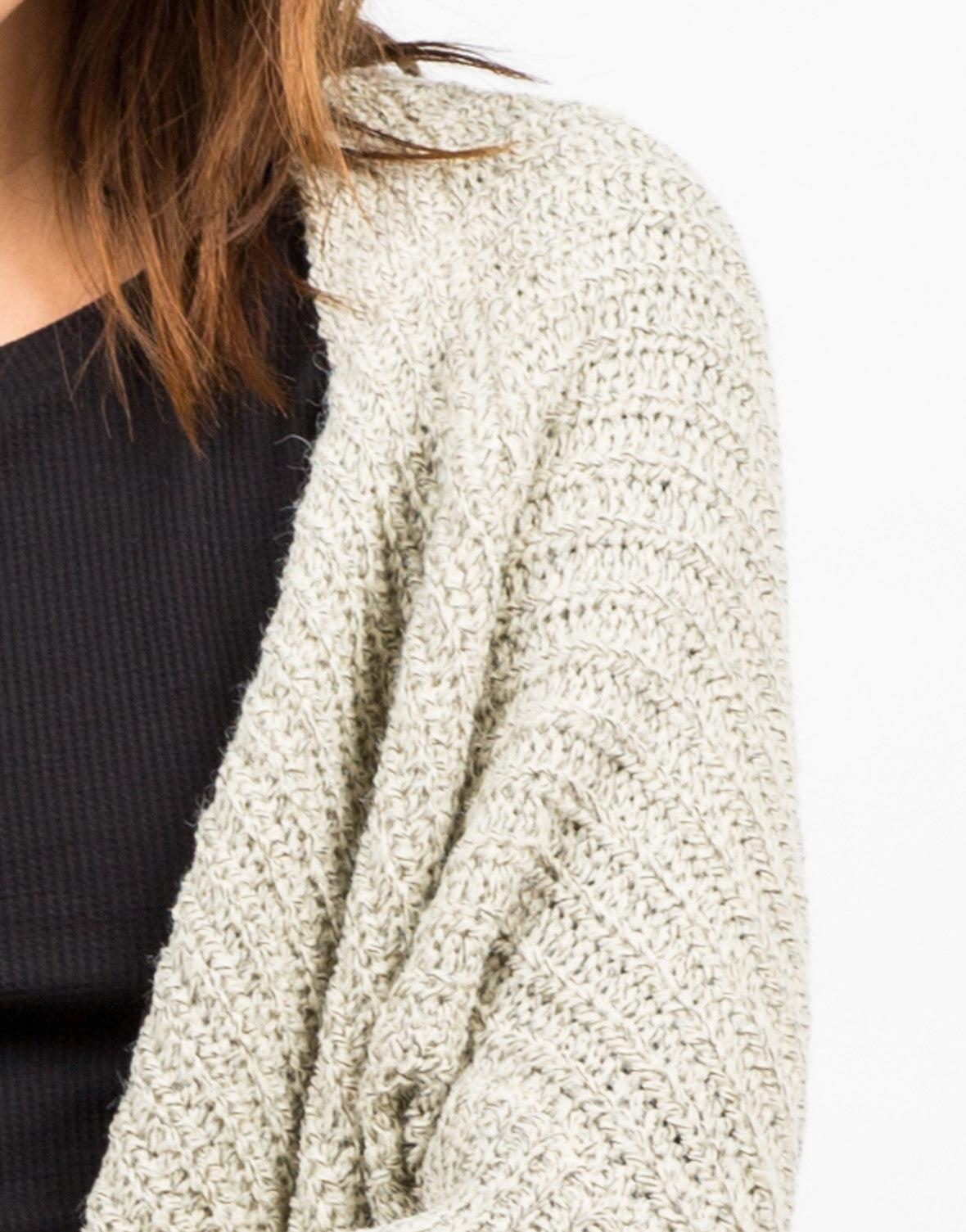 Detail of Marled Knit Cardigan