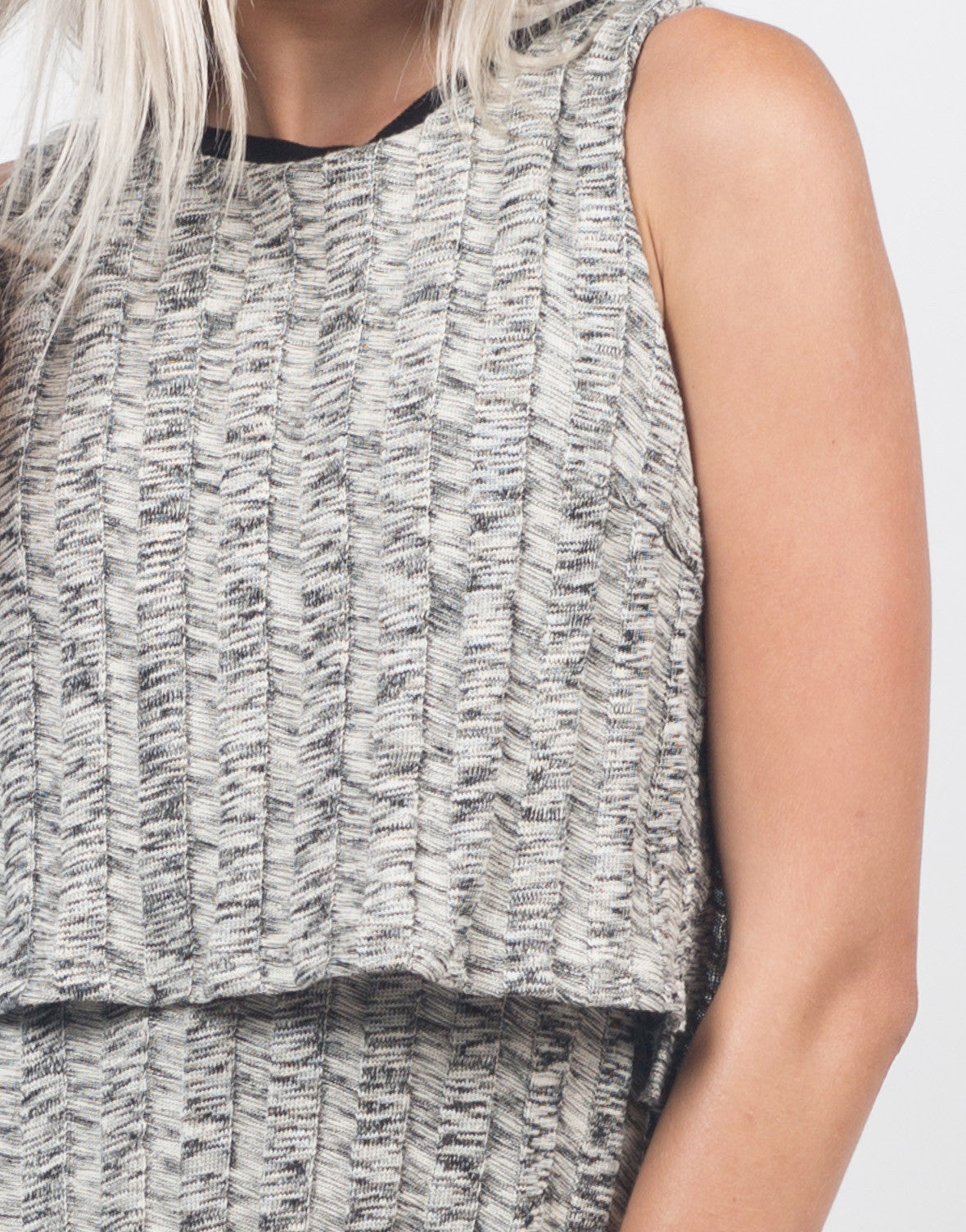 Detail of Marled Knit Swing Dress