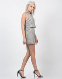 Side View of Marled Knit Swing Dress