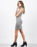 Side View of Marled Knit Tank Dress