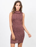 Front View of Marled Knit Tank Dress