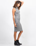 Side View of Marled Sweater Dress