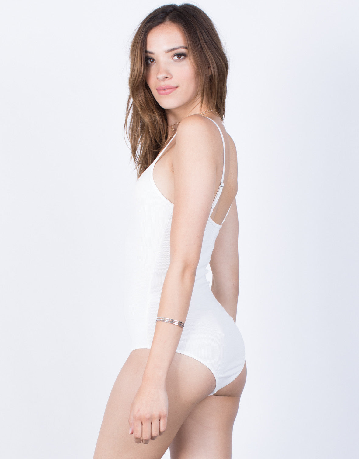 Back View of Maya Cami Bodysuit