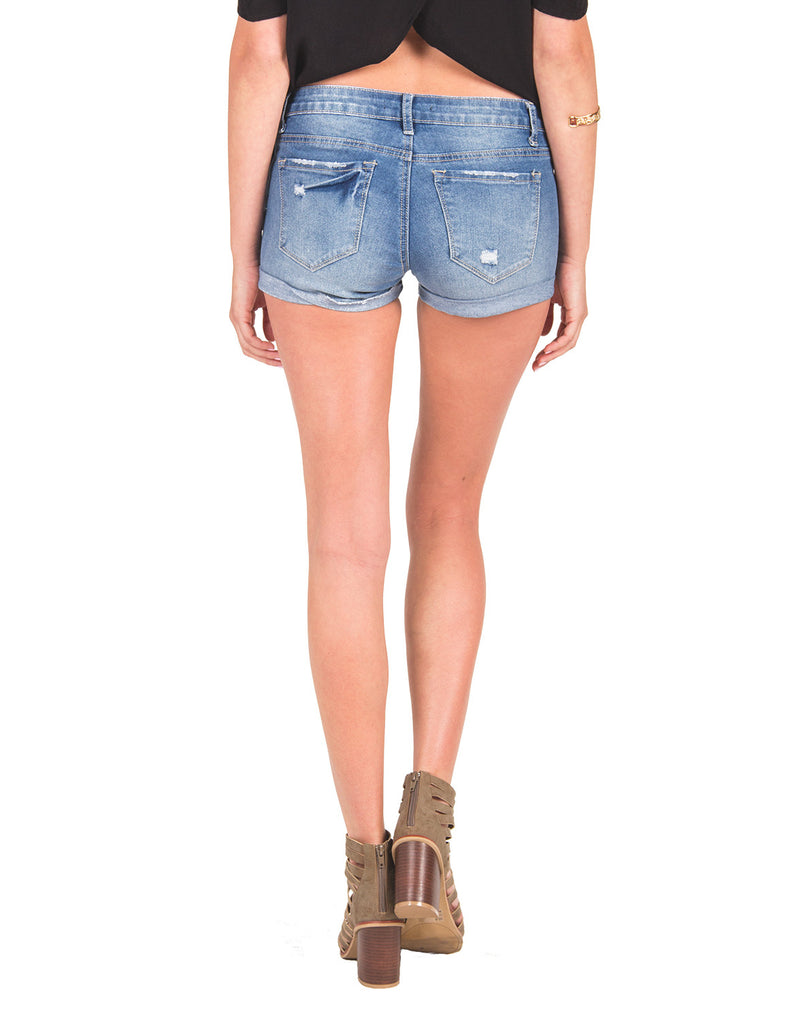 Medium Wash Cuffed Shorts - 2020AVE