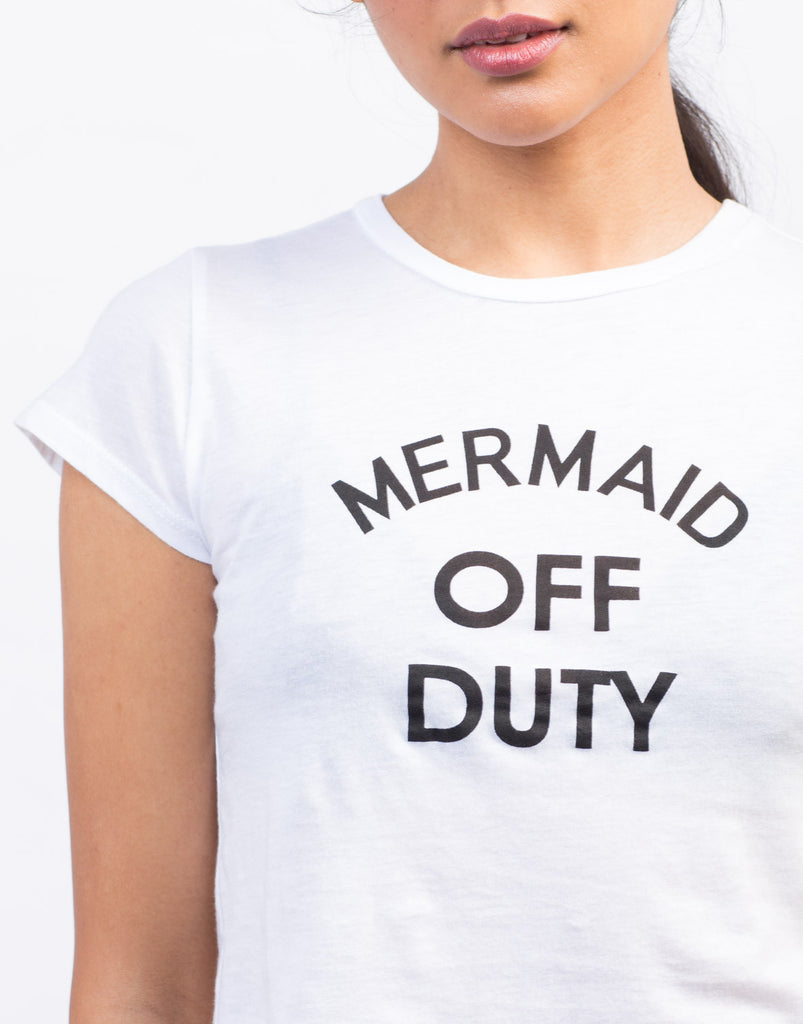 Detail of Mermaid Off Duty Cropped Tee