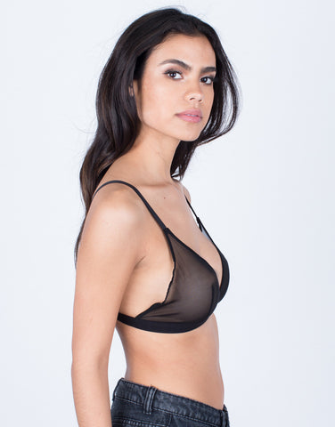 Side View of Mesh Around Bralette