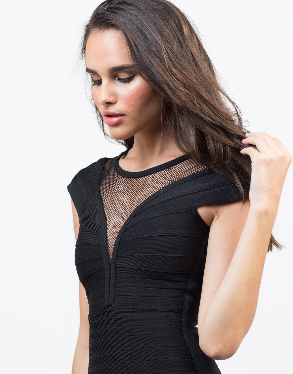 Mesh Bandage Party Dress - 2020AVE
