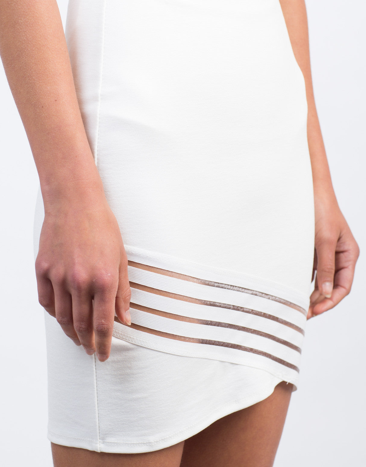 Detail of Mesh Detailed Bodycon Skirt