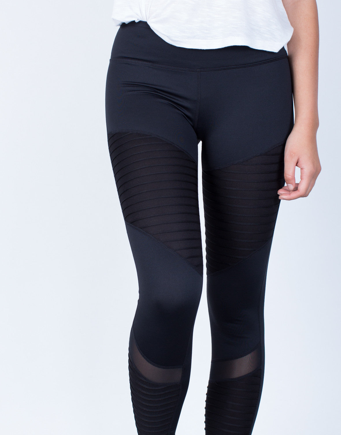 Detail of Mesh Lined Leggings